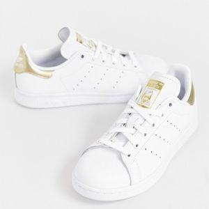 adidas originals stan smith sneakers (white/gold)